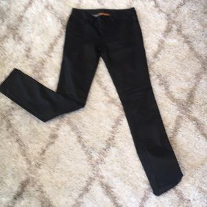 Tory Burch coated super skinny black jeans